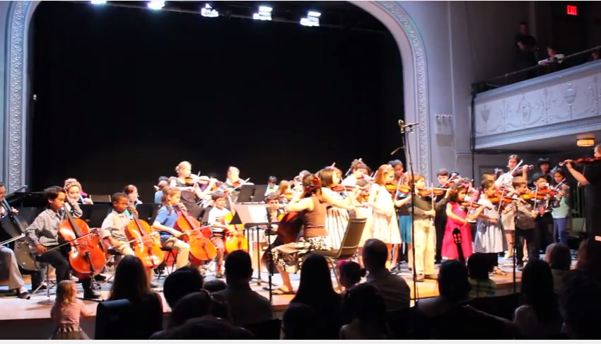 Suzuki string students perform Eleanor Rigby
