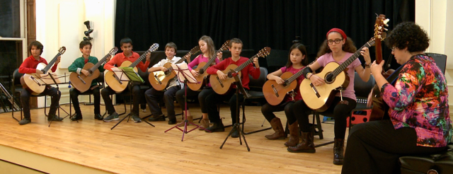 Guitars at Latin American Cultural week.