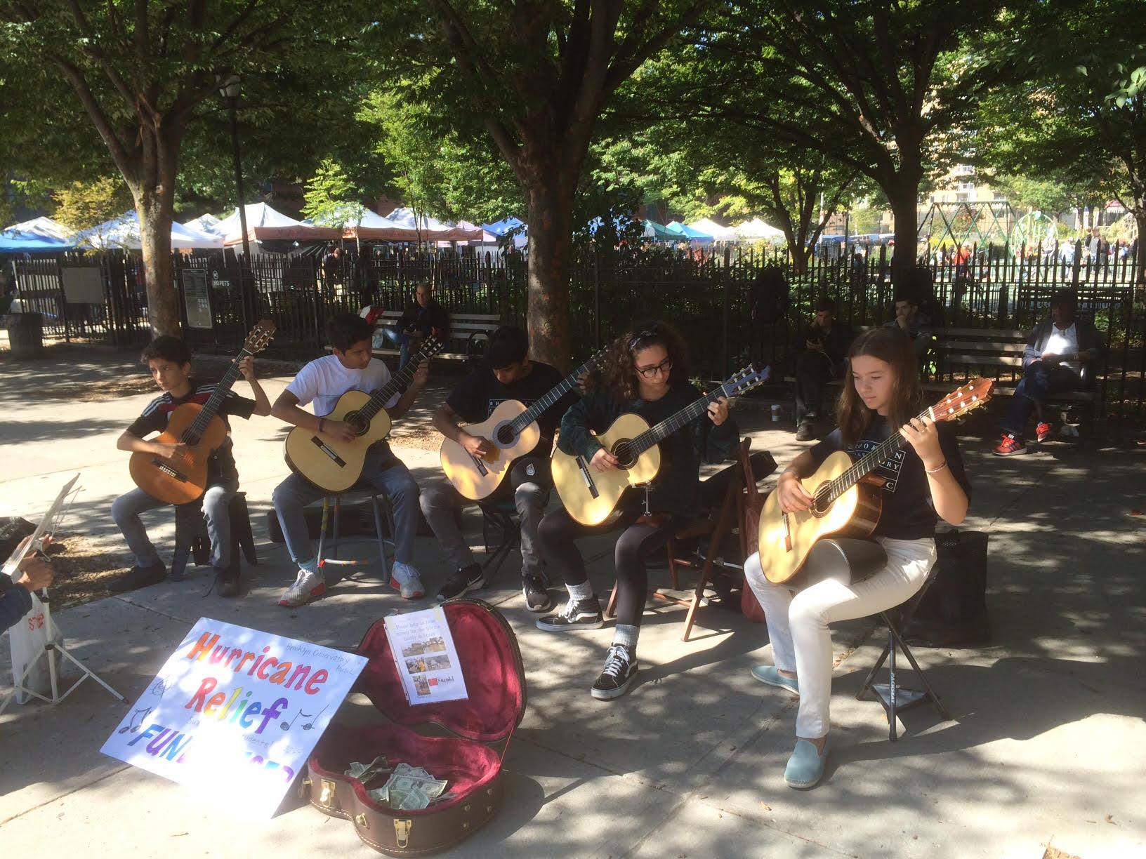 Guitar students