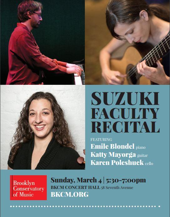 Suzuki Faculty Recital